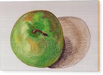 Lone Apple Wood Print by Sheron Petrie