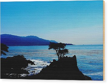 Lone Cypress Tree - Pebble Beach Ca Wood Print