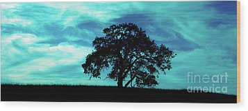 Wood Print featuring the photograph Lone Oak by Jim and Emily Bush