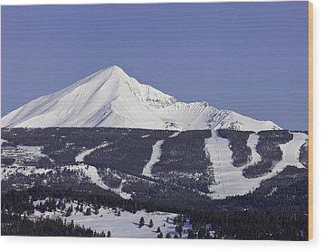 Lone Peak Southern Exposure Wood Print