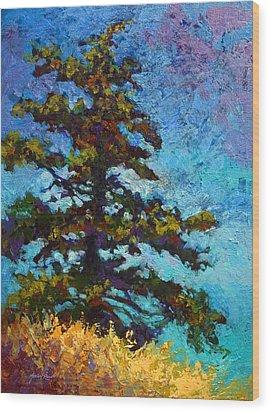 Lone Pine II Wood Print by Marion Rose