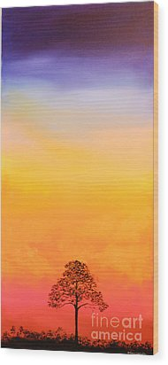 Lone Pine Wood Print by Michele Hollister - for Nancy Asbell