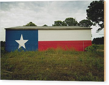 Lone Star Mural Wood Print by John Gusky