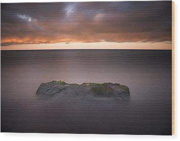 Wood Print featuring the photograph Lone Stone At Sunrise by Adam Romanowicz