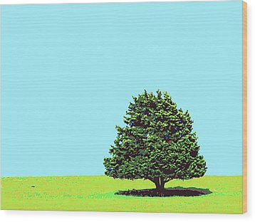 Lone Tree Wood Print by Dominic Piperata