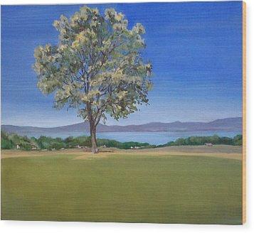 Lone Tree Hill Wood Print