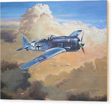'lone Warrior Fw190' Wood Print