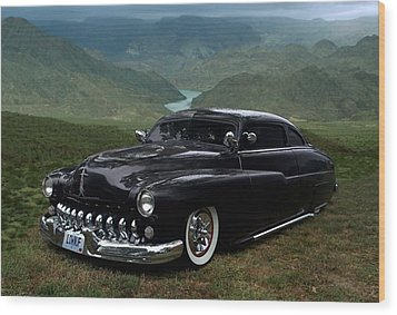 Lone Wolf 1949 Mercury Low Rider Wood Print by Tim McCullough