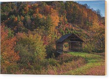 Lonely Bridge Wood Print