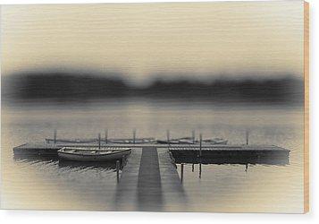 Lonely Jetty Wood Print by Mark Denham