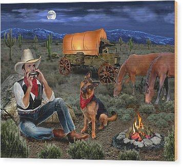 Lonesome Cowboy Wood Print by Glenn Holbrook