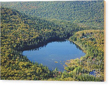 Lonesome Lake - White Mountains New Hampshire Usa Wood Print by Erin Paul Donovan