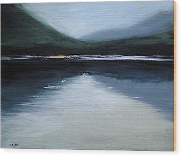 Lonesome Lake Wood Print