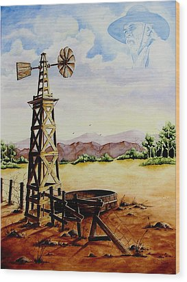 Lonesome Prairie Wood Print