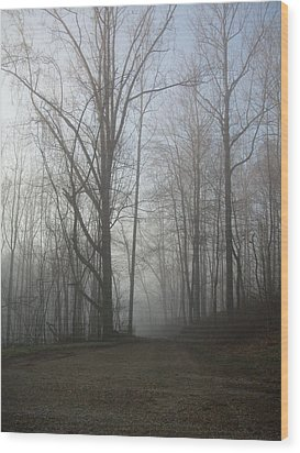 Lonesome Road Wood Print by Cynthia Lassiter