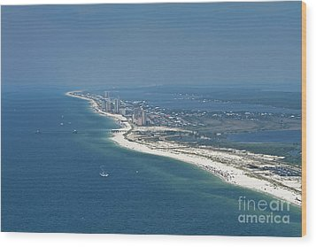 Long, Aerial, Beach View Wood Print