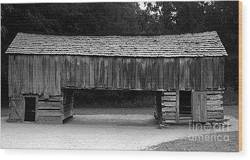Long Barn Wood Print by David Lee Thompson