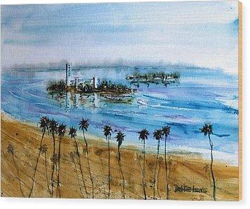 Long Beach Oil Islands Before Sunset Wood Print