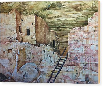 Long House, Mesa Verde National Park Wood Print by Lance Wurst