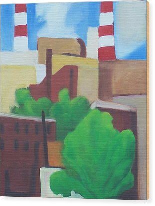 Long Island City View Wood Print