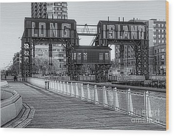 Long Island Railroad Gantry Cranes Iv Wood Print