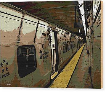 Long Island Railroad Wood Print by George Pedro