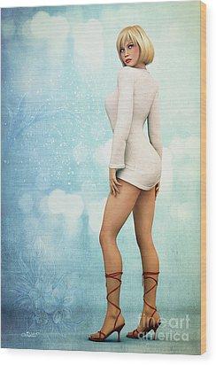 Wood Print featuring the digital art Long Legs by Jutta Maria Pusl