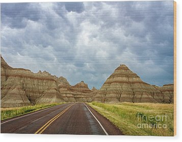Long Lonesome Highway Wood Print