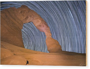 Long Night At Delicate Arch Wood Print