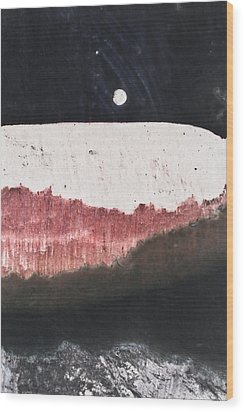 Long Night Slow Moon Wood Print by Ryan Kelly