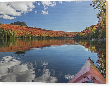 Long Pond From A Kayak Wood Print