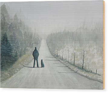 Long Road Home Wood Print by Ally Benbrook