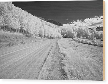 Wood Print featuring the photograph Long Road In Colorado by Jon Glaser