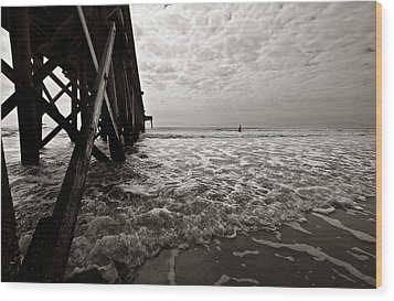 Wood Print featuring the photograph Long To Surf by David Sutton