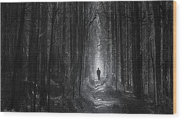 Wood Print featuring the photograph Long Way Home by Bernd Hau