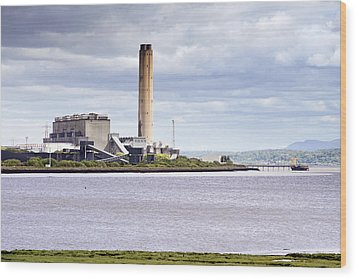 Wood Print featuring the photograph Longannet Power Station by Jeremy Lavender Photography
