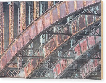 Longfellow Bridge Arches I Wood Print by Clarence Holmes