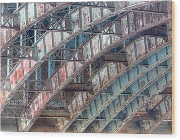Longfellow Bridge Arches II Wood Print by Clarence Holmes