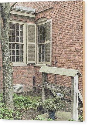 Longfellow's Maine Home Wood Print