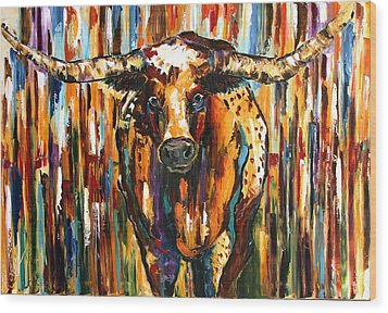 Longhorn Way  Wood Print