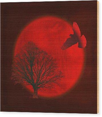Longing Wood Print by AugenWerk Susann Serfezi