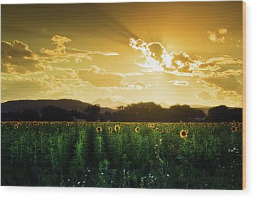 Wood Print featuring the photograph Longmont Summer Skies 2 by John De Bord