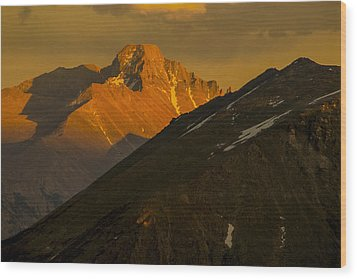 Long's Peak Wood Print