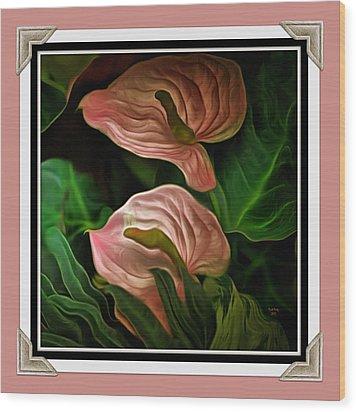 Longwood Lilies Wood Print by Trish Tritz