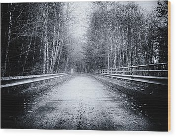 Wood Print featuring the photograph Lonliness Highway by Spencer McDonald