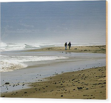 Lonly Beach Wood Print by Marty Koch
