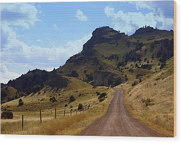 Lonly Road Wood Print by Marty Koch