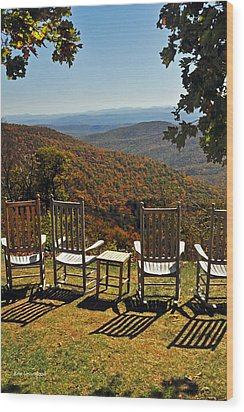 Relax And Enjoy Wood Print by Kay Lovingood