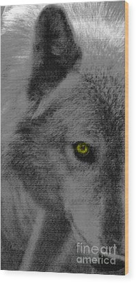 Wood Print featuring the mixed media Look Into My Eye by Debra     Vatalaro