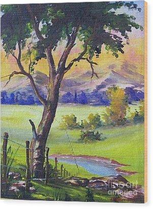 Look To The Horizon Wood Print by Leomariano artist BRASIL